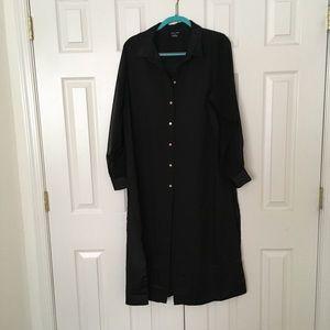 Long buttondown blouse